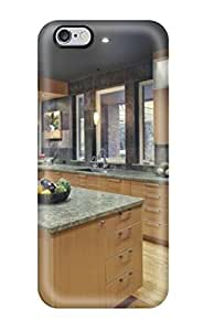Durable Contemporary Kitchen With Wood Cabinets And Granite Back Case/cover For Case Cover For Apple Iphone 6 Plus 5.5 Inch