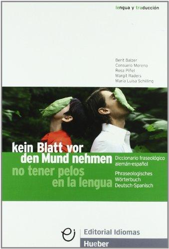 Descargar Libro Kein Blatt-diccion.fraseolog.alem.-esp. Berit Balzer