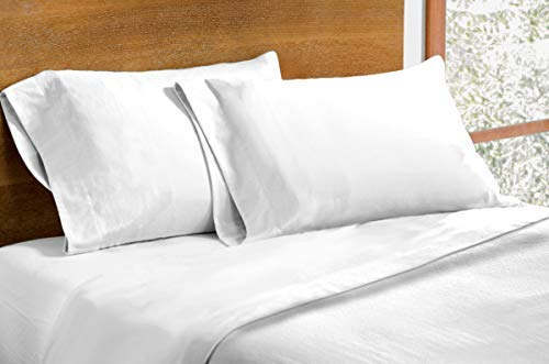 Dormisette Luxury German Flannel Ultra-Soft 6-Ounce Sheets Set White Queen ()