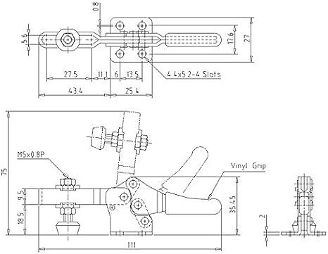 KAKUTA HH 300 Holding Capacity 150 lbs Horizontal Handle 213-U