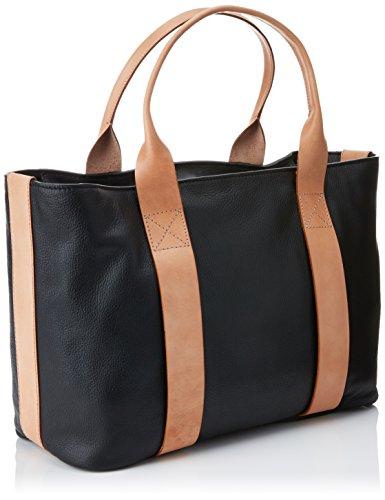 Clarks Damen Tasmin Bella Henkeltaschen, 15x29x48 cm Schwarz (Black Leather)