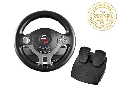 🥇 Subsonic – Volante Driving Wheel con pedales y paletas de cambio para Switch – PS4 – Xbox One – PC
