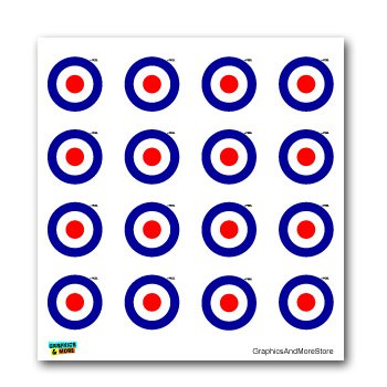 Royal Air Force RAF Insignia Roundel - SET of 16 - Window Bumper Laptop Stickers