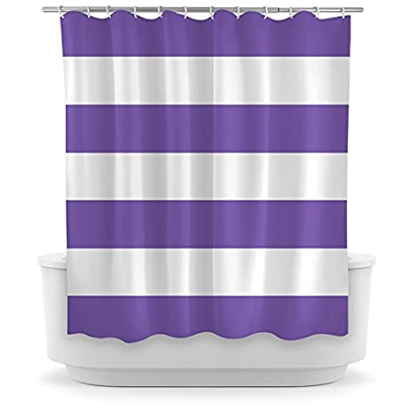 Opima Purple Striped Shower Curtain