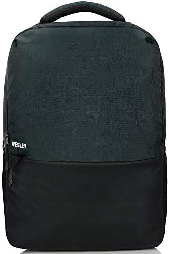 Wesley Milestone Casual Waterproof Laptop Backpack/Office Bag/School Bag/College Bag/Business Bag/Unisex Travel Backpack (2.0 15.6 inch 30 L, Charcoal Black)
