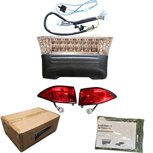 Performance Plus Carts Club Car Precedent Golf Cart Full LED Headlight Kit with Tail Lights 2004-Up Gas