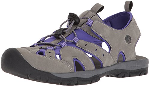 Northside Womens Burke II Sport Athletic Sandal Purple/Gray