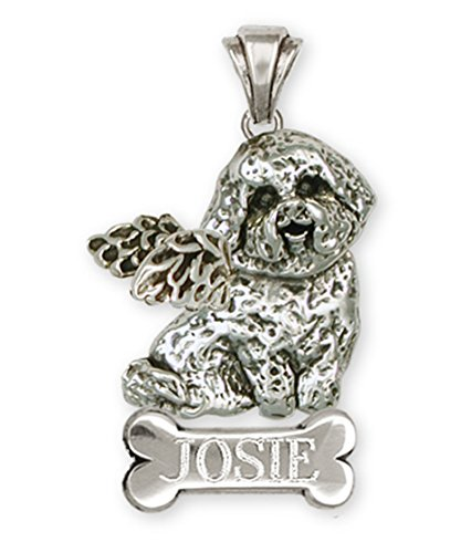 Personalized Bichon Memorial Pendant