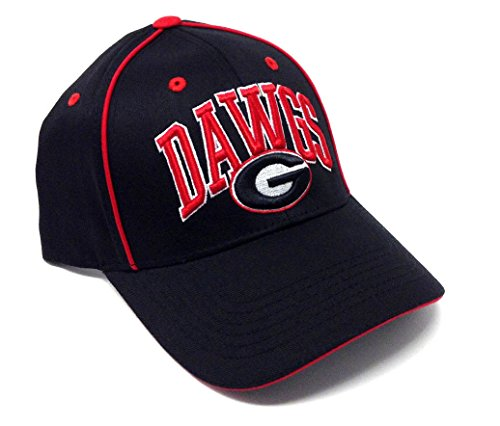 Georgia Bulldogs Playmaker Solid Black Adjustable Hat
