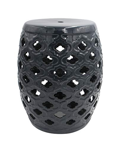 - Ravenna Home Traditional Moroccan Ceramic Garden Stool or Side Table,  16