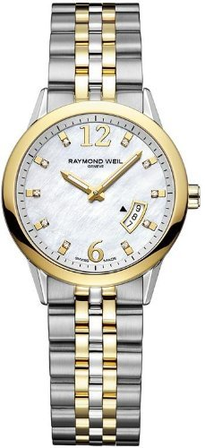 Raymond Weil Women's 5670-STP-05985 Quartz Stainless Steel Mother-Of-Pearl Dial Watch