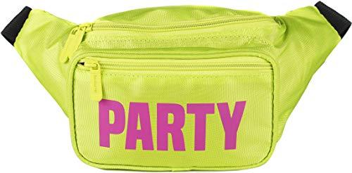 SoJourner Yellow Party Fanny Pack - Neon Packs for men, women | Cute Waist Bag Fashion Belt Bags rave festival