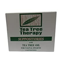Pack of 2 x Tea Tree Therapy Vaginal Suppositories with Tea Tree Oil - 6 Suppositories