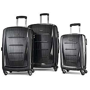 Samsonite Winfield 2 3PC Hardside (20/24/28) Luggage Set, Brushed Anthracite