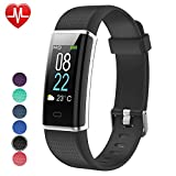 YAMAY Fitness Tracker with Heart Rate Monitor, Fitness Watch Activity Tracker Smart Watch with Sleep Monitor 14 Sports Mode,Pedometer Watch for Kids Men Women (Color Screen,IP68 Waterproof) (Black)
