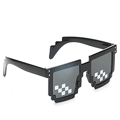 Fighting to Achieve Thug Life Glasses Pixel Code Sunglasses Anime Peripheral Sunglasses: Toys & Games