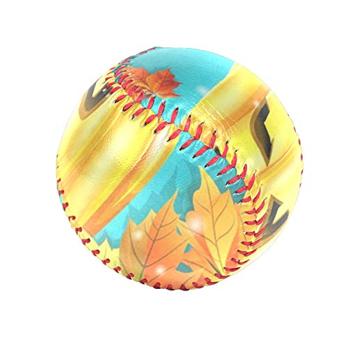DERTYV Precision Impact's Flex-Balls Halloween Pumpkin and Autumn Leaves Safety Tee Balls Indoor Baseball or Outdoor Baseballs for Kids