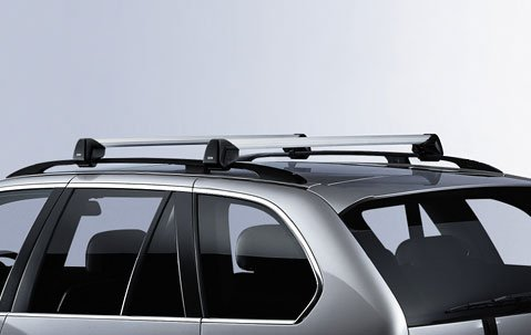 Factory Roof (BMW X5 E70 Genuine Factory OEM 82710404320 Profile Roof Rack Cross Bars 2007 -)
