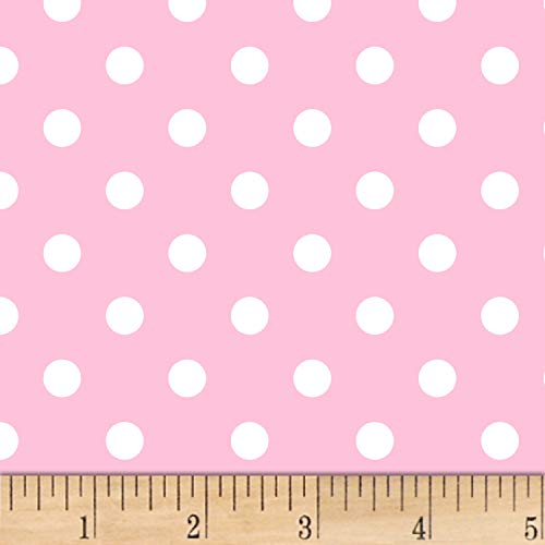 David Textiles Fun Dots Flannel Pink Fabric Fabric by the Yard