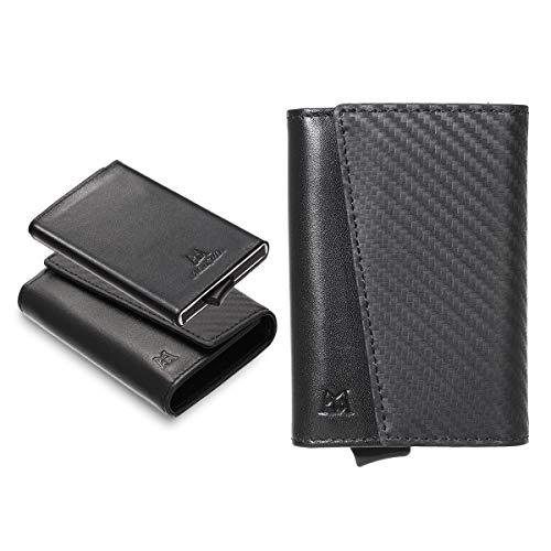 4ef3c2b06ac4 ManChDa RFID Blocking Leather Slim Business Card Holder Credit Card Case  Wallet Money Clip Front Pocket