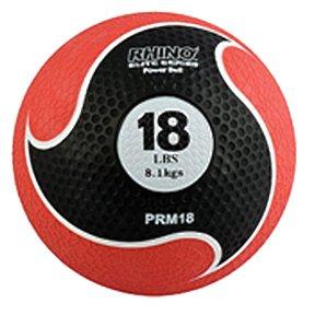 Champion Sports Rhino Elite Medicine Ball, Black Handle, 16-Feet by Champion Sports