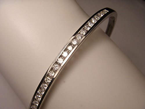 Estate Gold Bracelet (Gorgeous Estate 14K White Gold Diamond Bangle Bracelet)