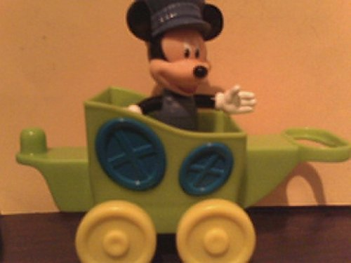 Disney Mickey Train Conductor Replacement Figure & Wagon (Mickey Magic Mouse Choo Choo)