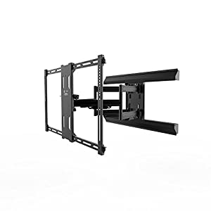 Kanto Full Motion PMX680 Pro Series Mount for 39″ to 80″ Flat Panel TVs, Black