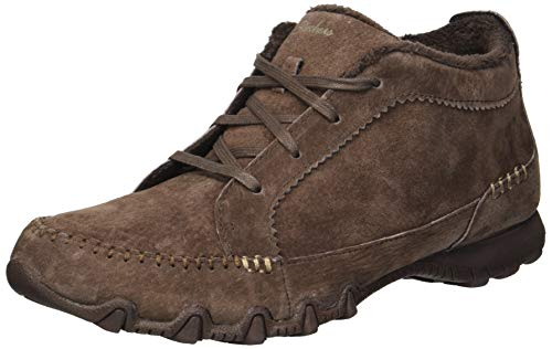 (Skechers Women's Bikers-Lineage-Moc-Toe Lace-Up Chukka Boot, Chocolate, 6.5 M US)