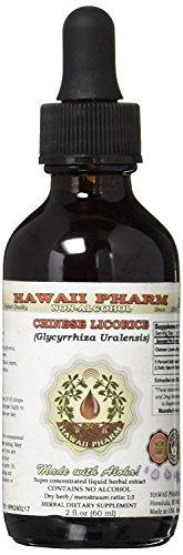 Chinese Licorice Alcohol-FREE Liquid Extract, Chinese Licorice (Glycyrrhiza Uralensis) Root Glycerite Herbal Supplement 2 oz