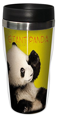 Giant Panda Travel Mug, Stainless Lined Coffee Tumbler, 16-Ounce - Eric Isselee - Cute Gift for Panda Lovers - Tree-Free Greetings 25799 by Tree-Free Greetings