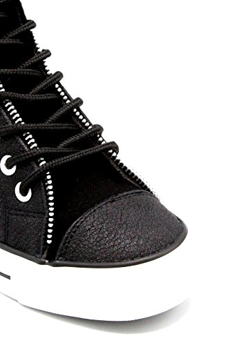 Cafè Noir LDG925 Sleeved Sneaker With Leather and Felt With Interior Curtains 010 Nero gDqLTAo