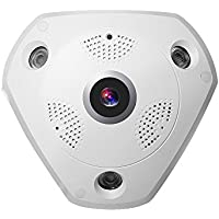 TOLLAR VISION 5.0MP 360 degree Panoramic CCTV WIFI Security IP Network FishEye Camera (Support SD/TF Card max 128G)