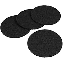UEETEK 4 Pcs Carbon Filter for Cat Litter Box Round Shape