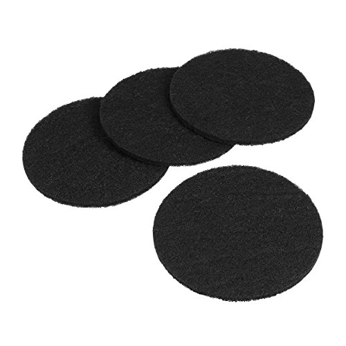 UEETEK 4pcs Round Shape Carbon Filters Cat Litter Boxes Filters Litter Pans Replacement Filters for Cat Litter Boxes Odor Control