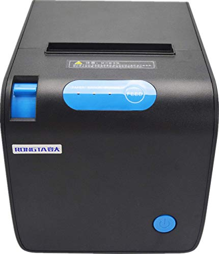 80MM POS Thermal Receipt Printer – USB Serial Ethernet Port POS Thermal Receipt Printer Compatible 80mm Thermal Paper Rolls – 250mm/sec High-Speed Printing with ESC/POS Print Commands (Black)