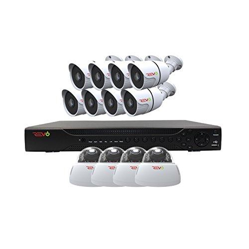 REVO America Aero HD 16 CH Four Megapixel DVR, 2TB HDD & 12x 1080p Indoor/Outdoor IR Cameras - Remote Access - Backward Compatible with Standard Digital Cameras.