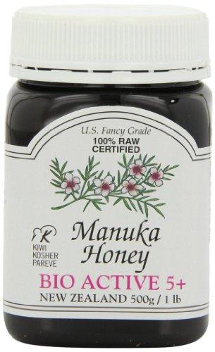 Active 5+ Manuka Honey (Pacific Resources Manuka Honey Bio Active 5 Plus, 1 Pound)