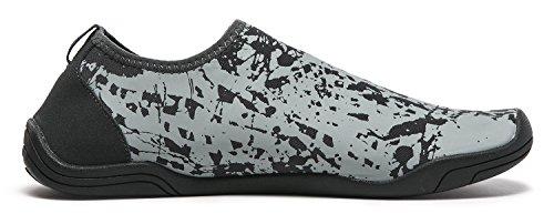 Tesla Männer Frauen & Kinder Slip-On Quick-Dry Minimal Strand Aqua Schuhe A101 / A102 TF-A102-GRY