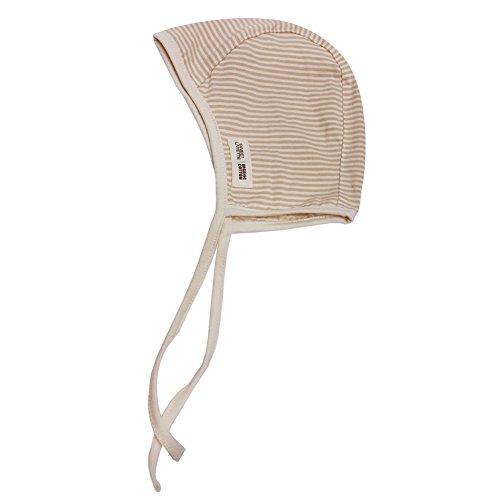 Sweet Layette Baby Bonnet Cap - Baby Pilot Hat - 100% Organic Cotton (Stripe) ()