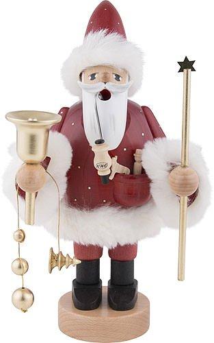 KWO Red Santa German Christmas Incense Smoker Handcrafted in Erzgebirge ()