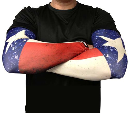 Missing Link SPF 50 Republic of Texas ArmPro Compression Sleeve (Multi Color, X-Large)