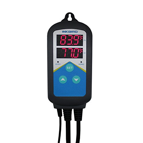 Inkbird Digital Temperature Controller Thermostat & Timer Time Switch AC 100~240V,1200W Only Heating for Breeding, Planting ect. NO COOLING CONTROL