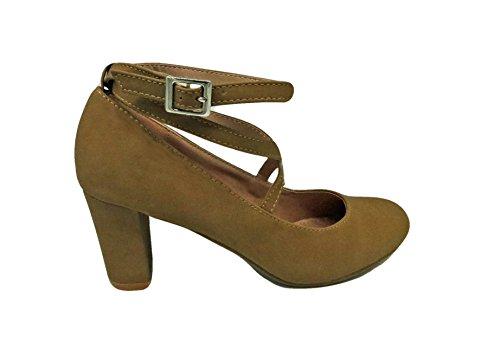 10 High Strap Moda Top COOPER Cross Sandals Tan Heel qEtzwzS