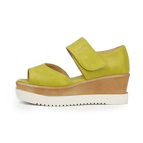 Peep Sandali Materiale Morbido And Loop Hook Kitten Per Verde Solidi Toe Donna Voguezone009 Heels xBCqPwC