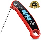 Meat Thermometer, Instant Read Thermometer with Calibration and Backlit, Waterproof Super Fast Digital Thermometer with Long Probe, Food Thermometer with Bottle Opener for Kitchen, Cooking, BBQ, Grill