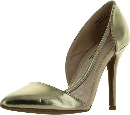 Anne Michelle Women's Momentum-39 Pumps Shoes,Gold,7