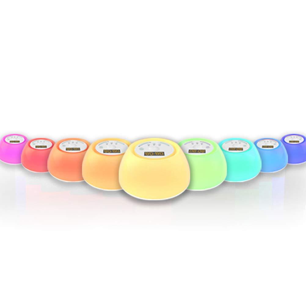 Mobestech 2.5W luces de noche de colores LED Atmósfera Lámpara de cabecera Función de boquilla Lámpara de escritorio para el dormitorio de bodas Niños ...