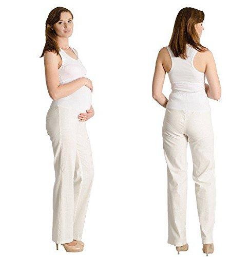 Nitis Umstandsmode - Pantalón - Básico - para mujer Beige