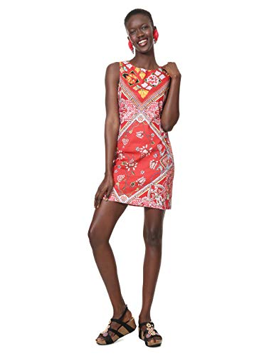 Donna 3000 Woman Rosso Lisa Red Sleeveless Dress carmin Vestito Desigual OqvWSYFwz